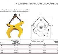 Mecanism pentru Ridicare Lingouri-Bare de Otel