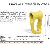 PRO-CL-03 Element Culisant de Ajustare pentru Cablu