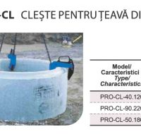 PRO-CL Cleste pentru Teava din Ciment Camin de Beton