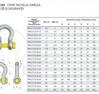 PRO-CT.03 Cheie Tachelaj Omega cu Piulita si Siguranta