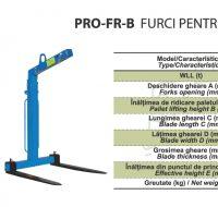 PRO-FR-B Furci pentru Manipulat Paleti