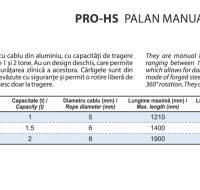 PRO-HS Palan Manual cu Levier si Cablu