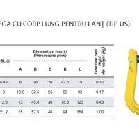 PRO-KLL Cupla Omega cu Corp Lung pentru Lant Tip US