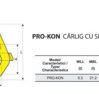 PRO-KON Carlig cu Siguranta pentru Container