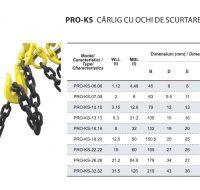 PRO-KS Carlig cu Ochi de Scurtare pentru Lant