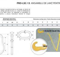 PRO-LSC-13 Ansamblu de Lant pentru Ancorare