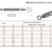 PRO-OO Intinzator de Cablu Tip Ochi-Ochi