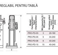 PRO-PD Cleste Orizontal Reglabil pentru Tabla