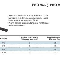PRO-WA si PRO-WB Winch Manual